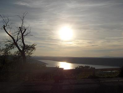 Sonnenuntergang am Lac de Sainte Croix